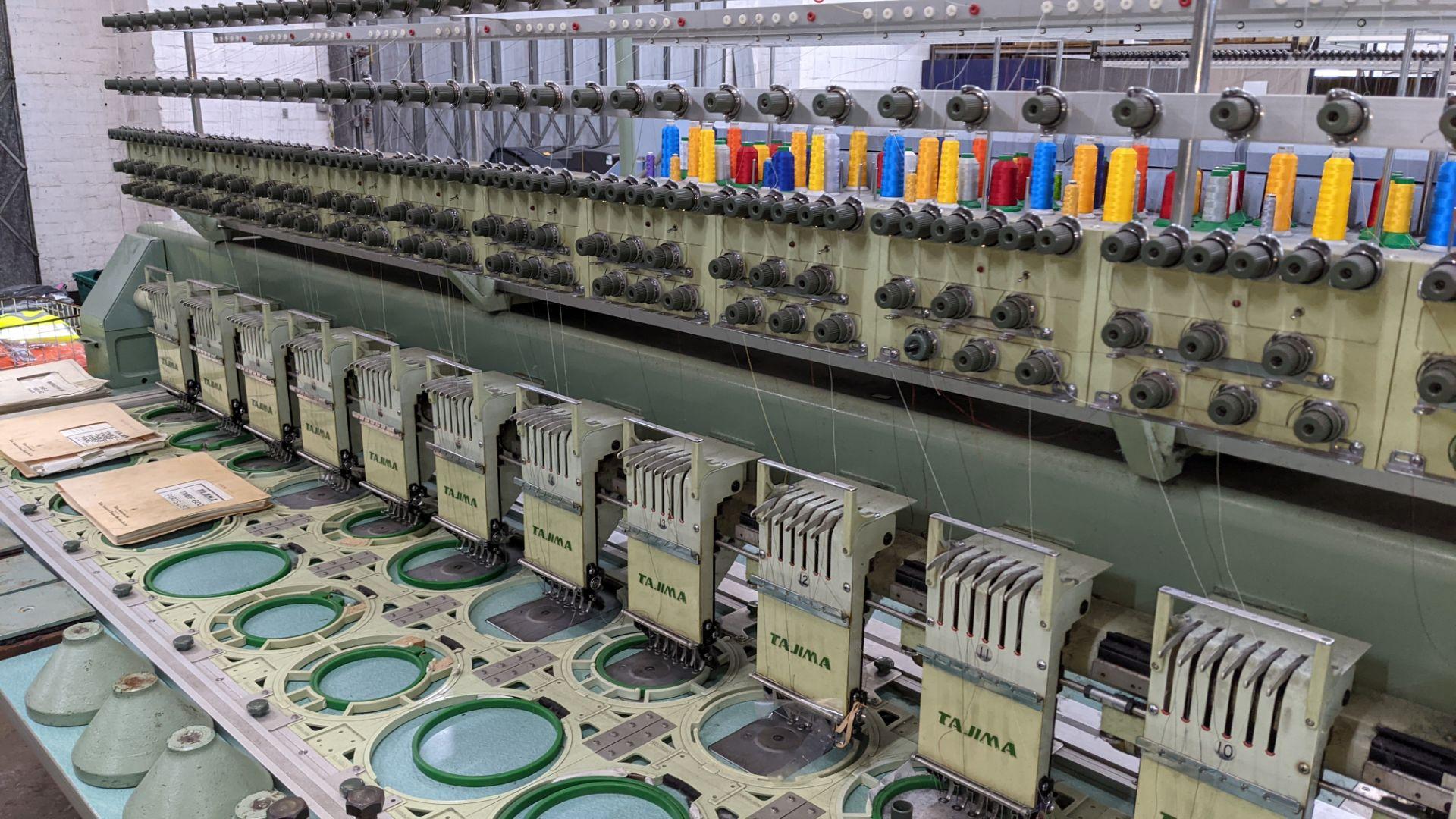 Tokai Tajima electronic 20 head automatic embroidery machine model TMEF-H620 - Image 9 of 25