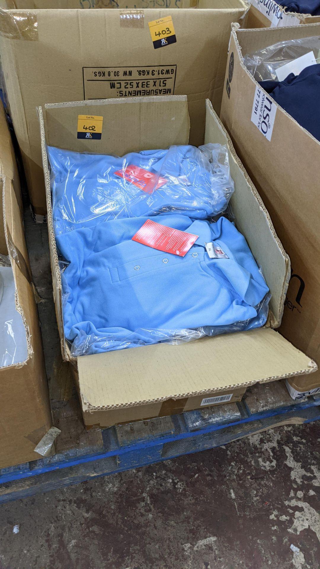 Approx 20 off Portland sky blue polo shirts - Image 2 of 4