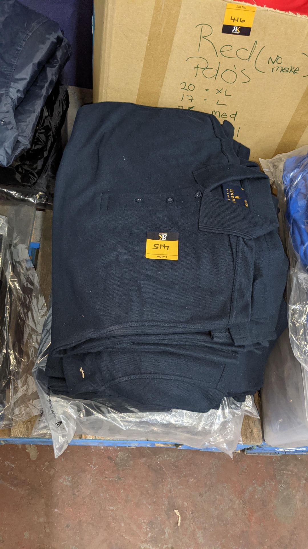 Approx 50 off Uneek dark blue polo shirts