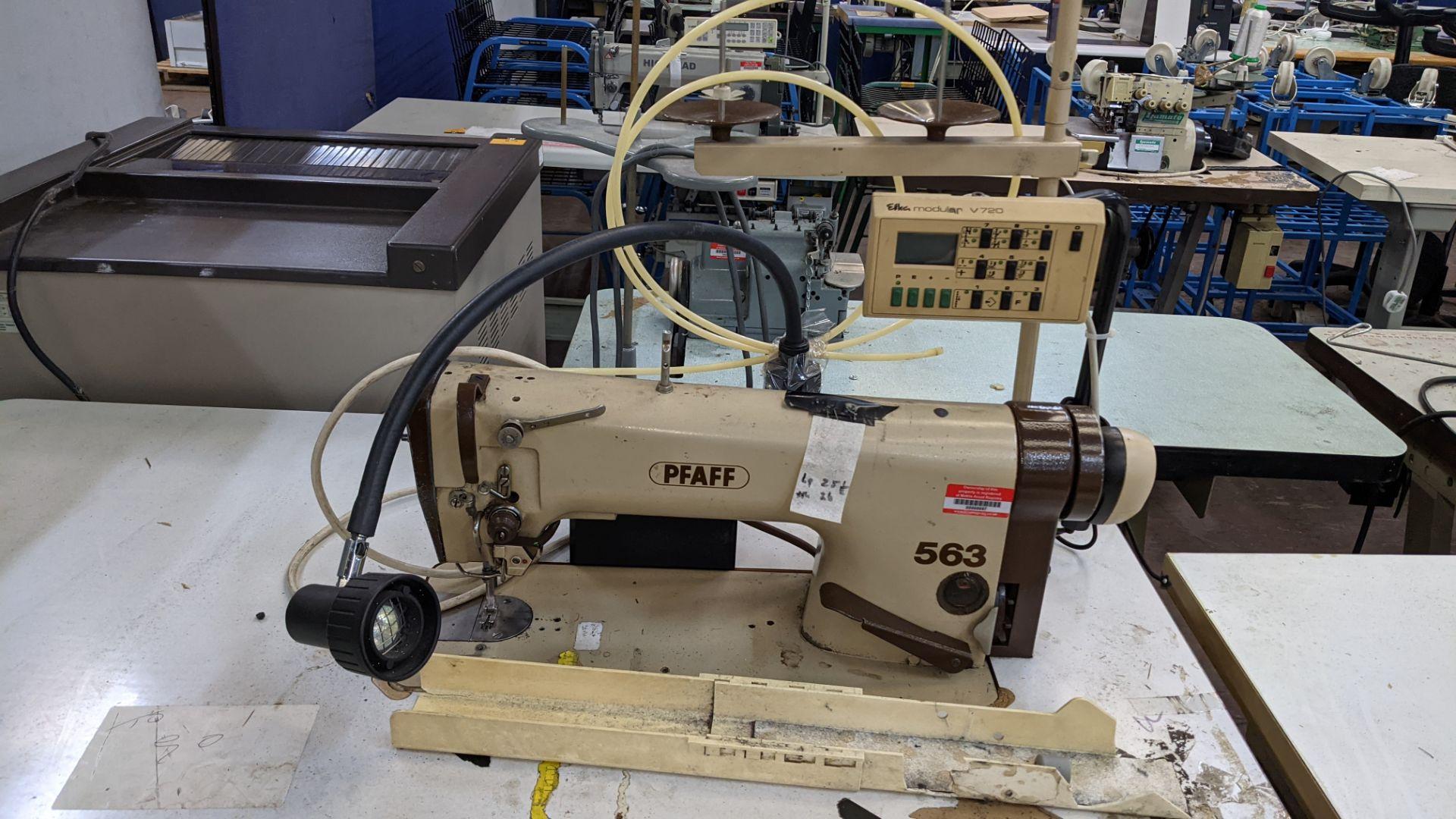 Pfaff model 563 sewing machine with Efka modular V720 digital controller - Image 6 of 13