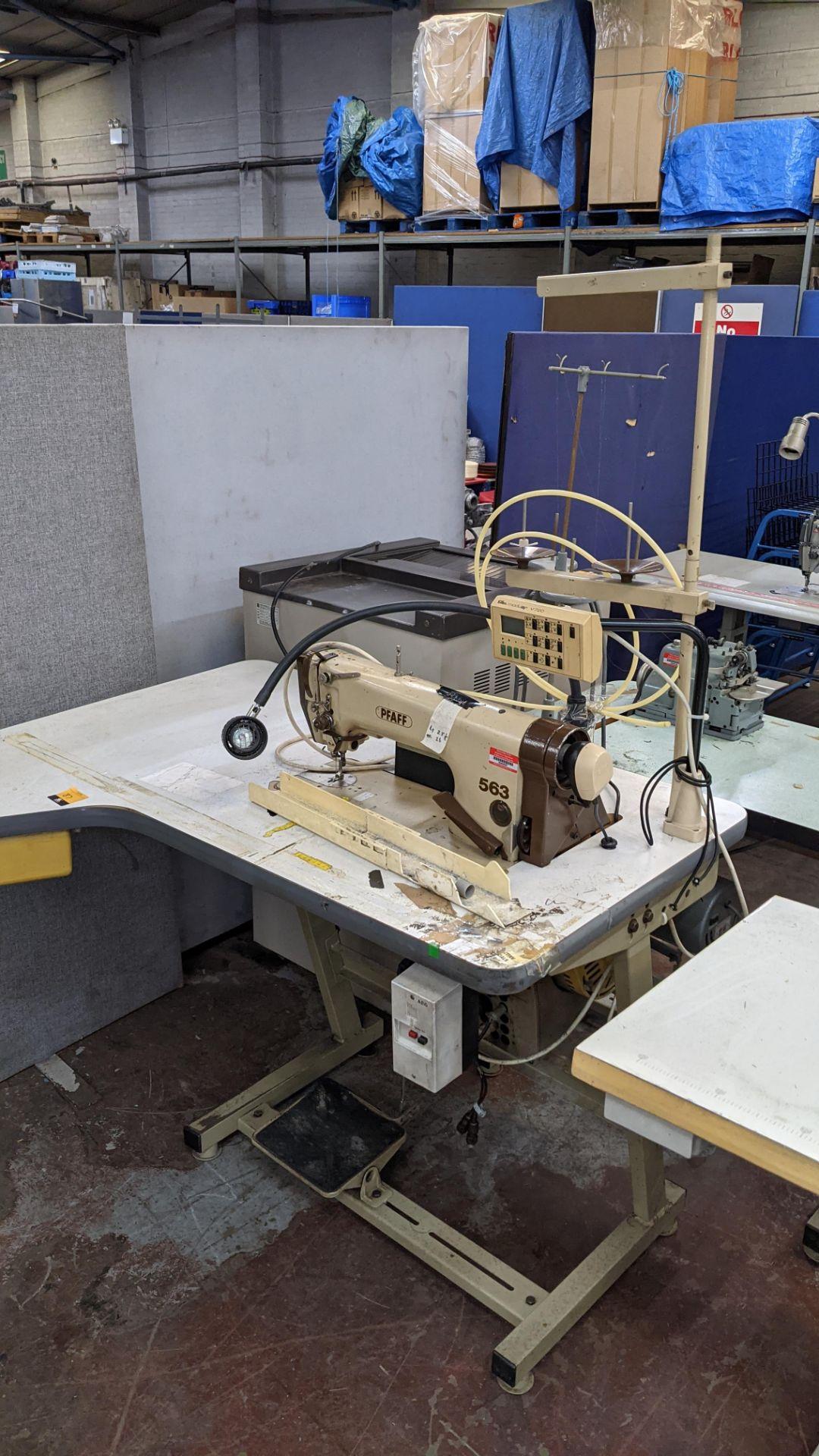 Pfaff model 563 sewing machine with Efka modular V720 digital controller - Image 3 of 13