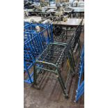 4 off matching green stacking Steely mobile machinists baskets