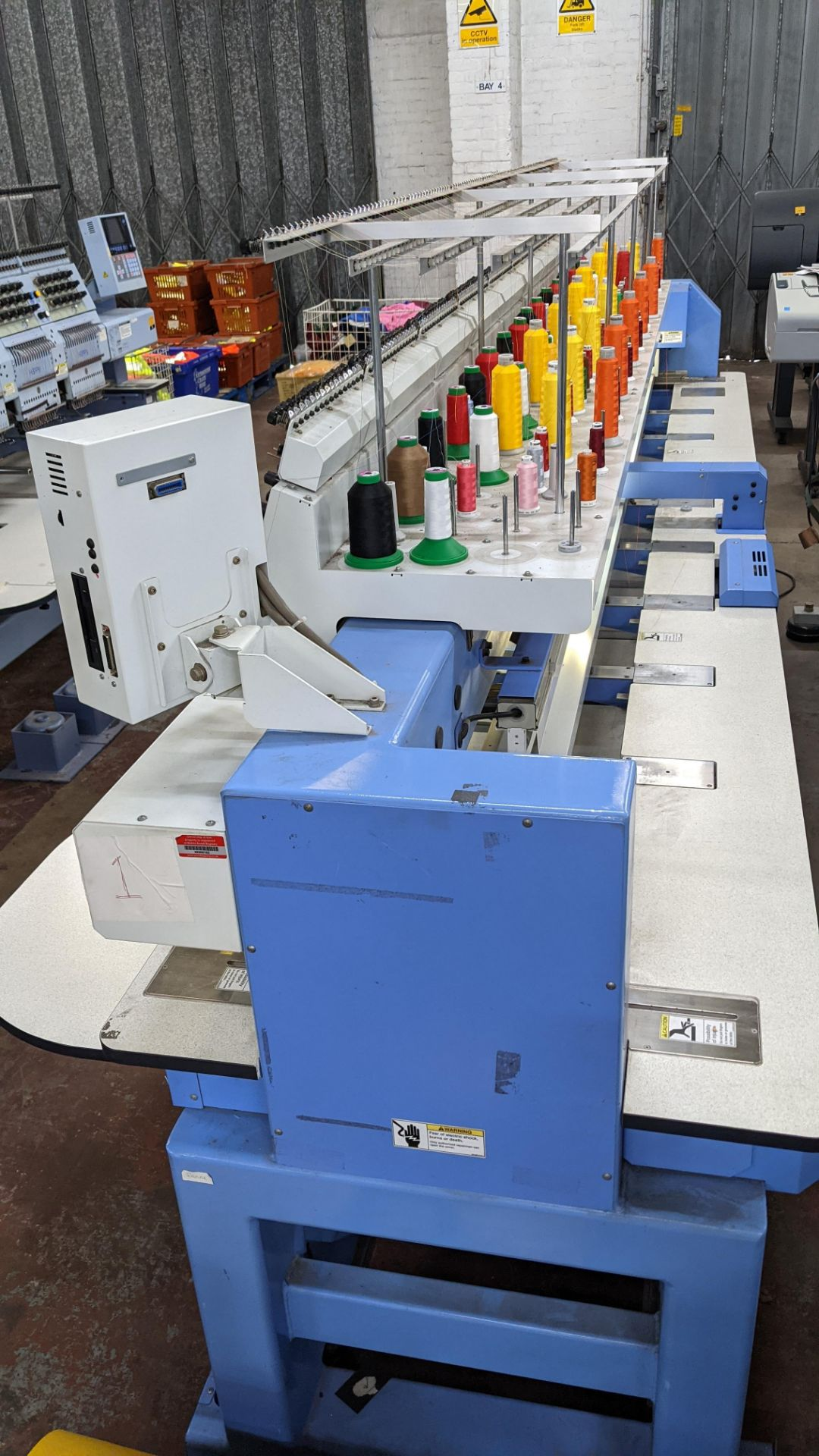 Happy 8 head embroidery machine, model HCG-1508B-45TTC, 15 needles per head, including frames & othe - Image 31 of 32