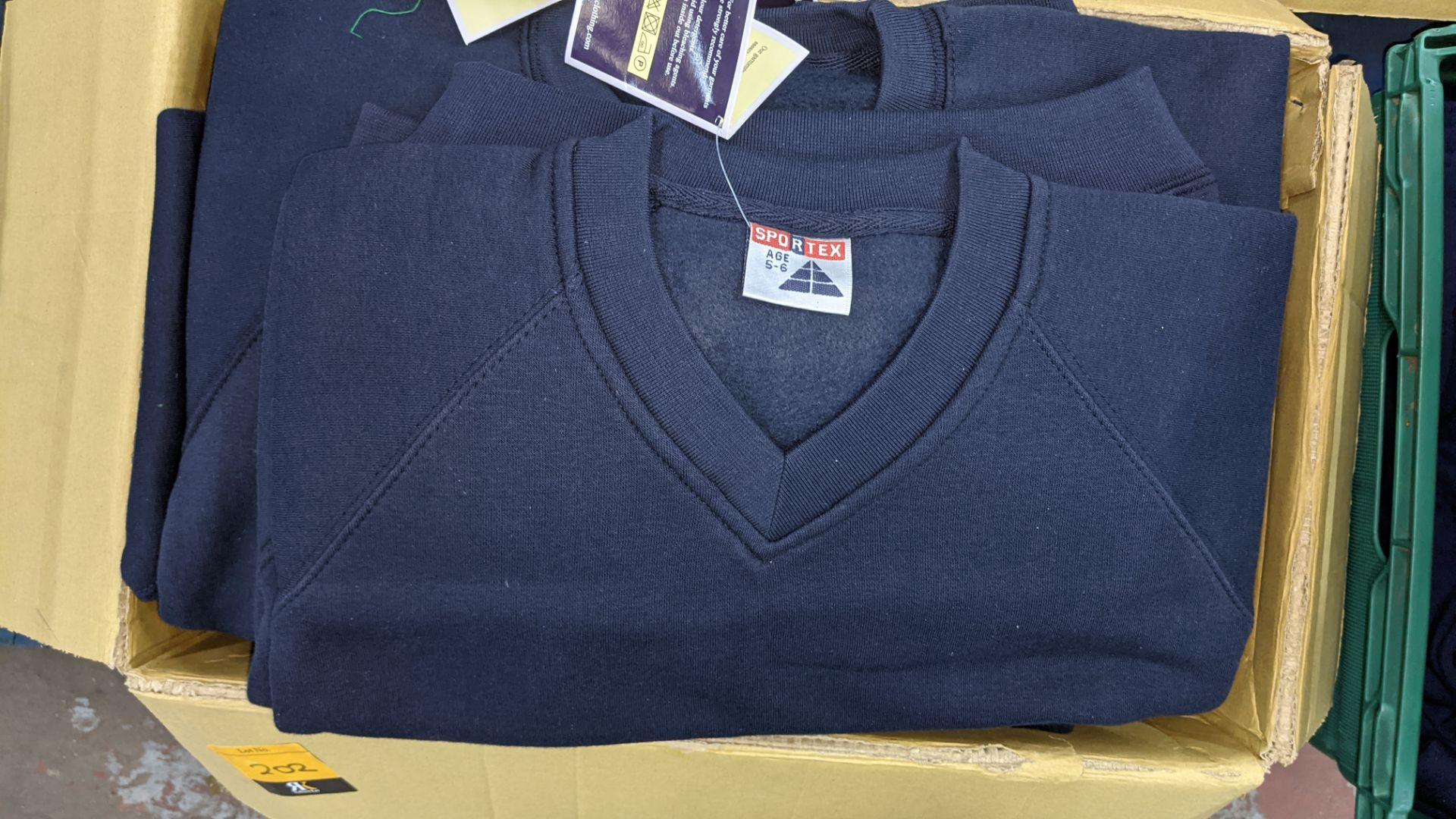 Approx 14 off Sportex children's blue V-neck sweatshirts - Image 3 of 4
