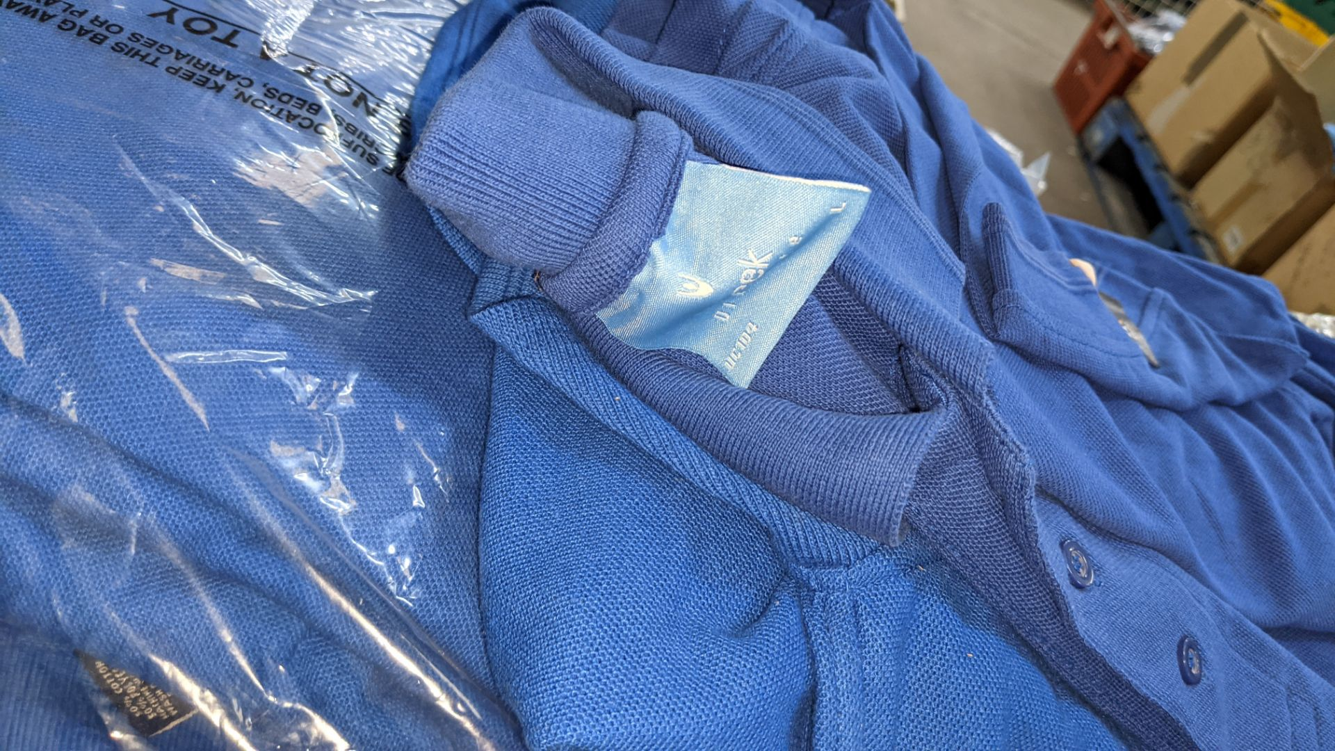 Approx 75 off assorted shades of blue polo shirts - Image 4 of 6
