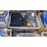 Approx 19 off blue children's sweatshirts & similar - the contents of 1 crate. NB crate excluded