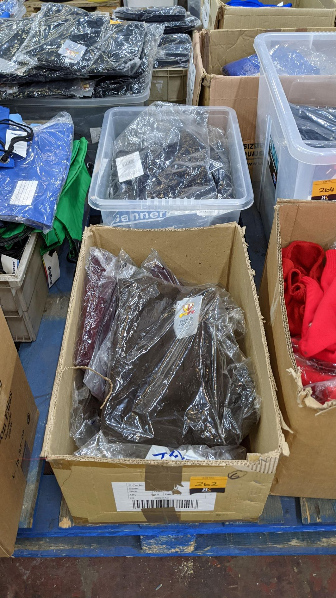 Quantity of assorted garments - the contents of 1 box & 1 crate. NB crate excluded - Image 2 of 8