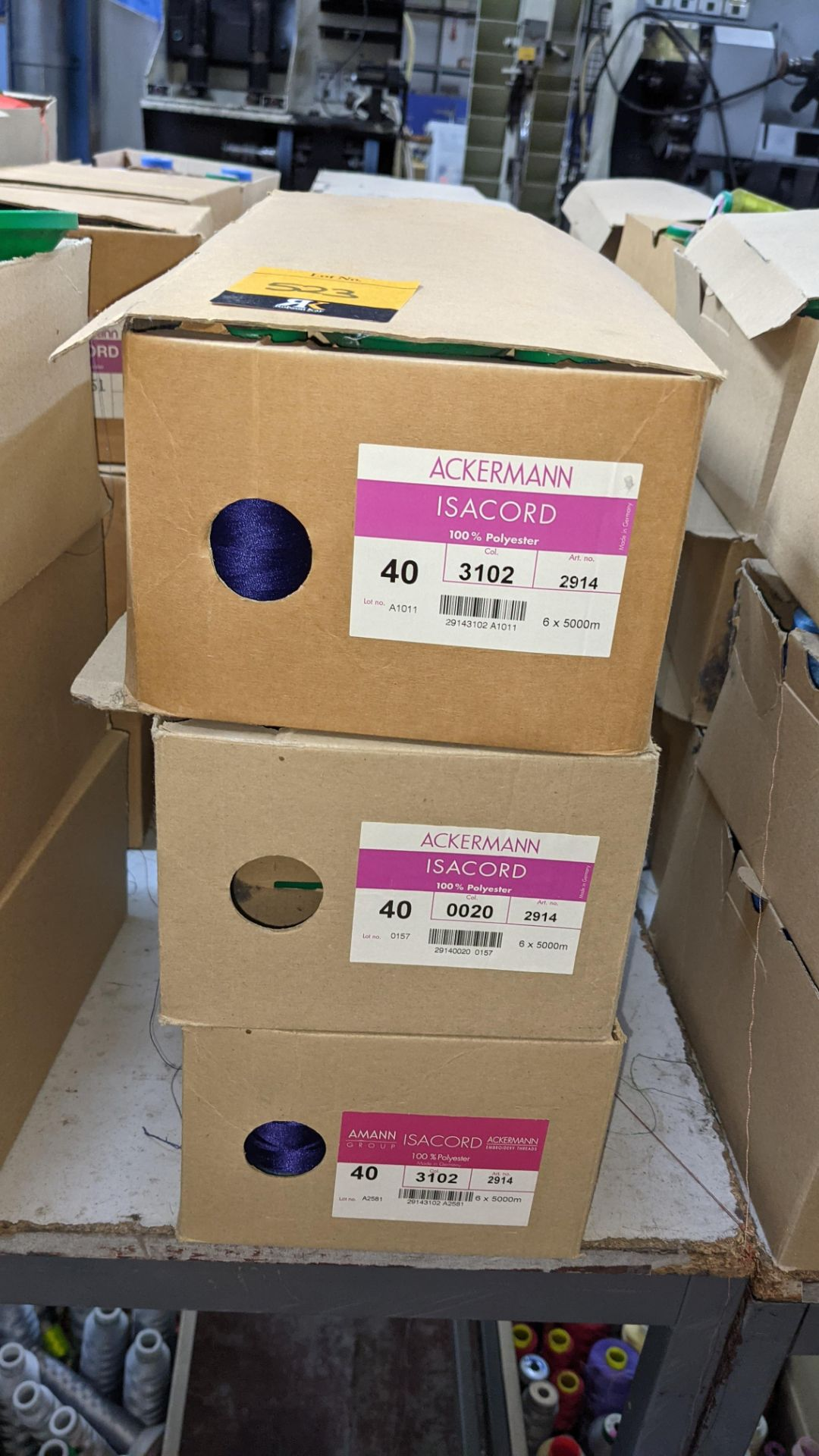 12 boxes of Ackermann Isacord (40) polyester thread - Image 3 of 9