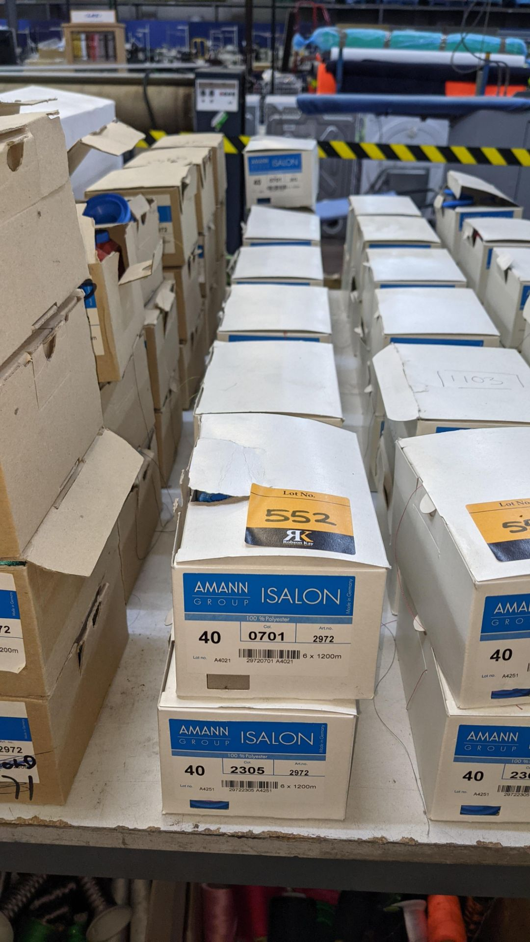 13 boxes of Amann Group ISALON 40 polyester embroidery thread - Image 2 of 10