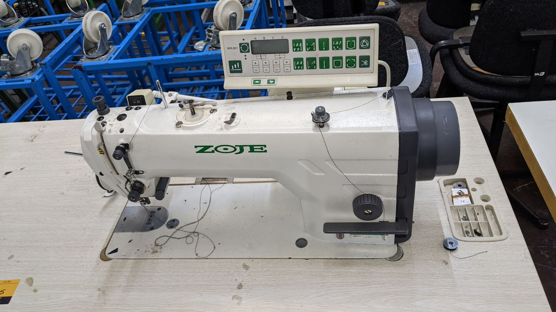 Zoje model ZJ9800A-D3B/PF sewing machine with WR-501 controller - Image 6 of 17