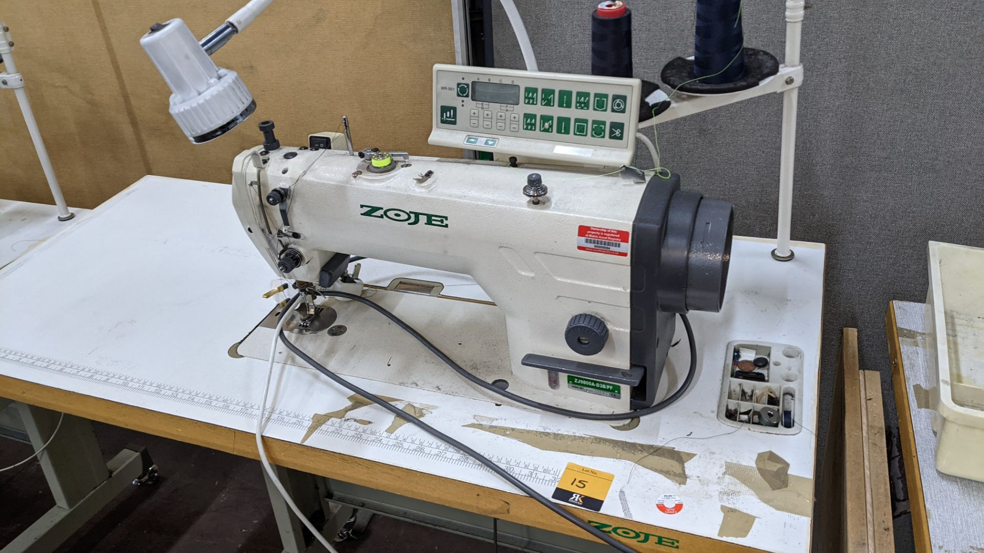 Zoje model ZJ9800A-D3B/PF lockstitch sewing machine with model WR-501 digital controller - Image 4 of 14