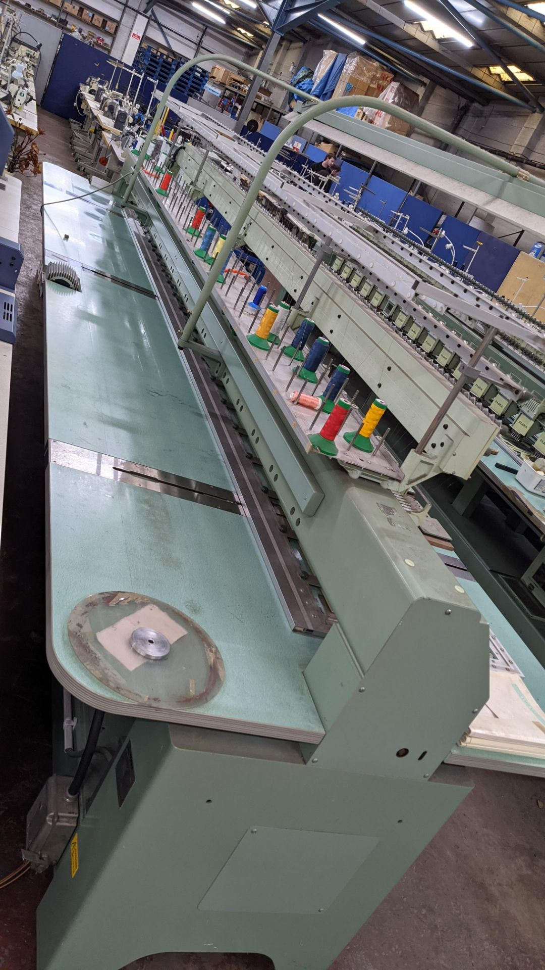 Tokai Tajima electronic 20 head automatic embroidery machine model TMEF-H620 - Image 17 of 25