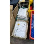 1 box & 1 crate of assorted chefs clothing & similar