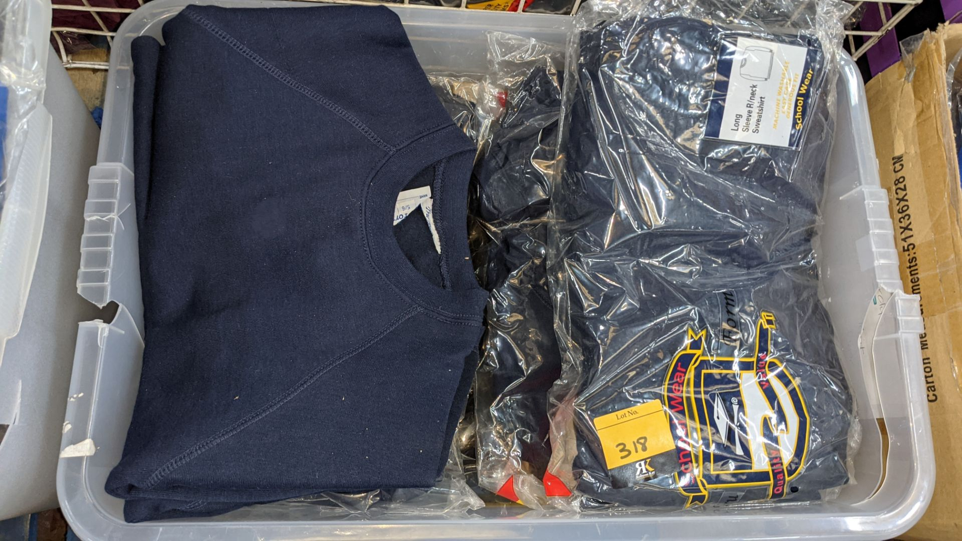 Approx 19 off blue children's sweatshirts & similar - the contents of 1 crate. NB crate excluded - Image 4 of 4