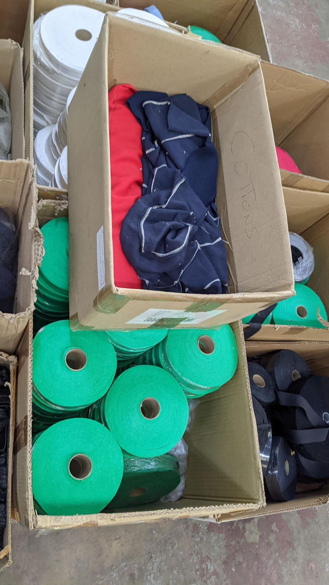 9 assorted boxes of tape, zips & other materials - Image 8 of 11