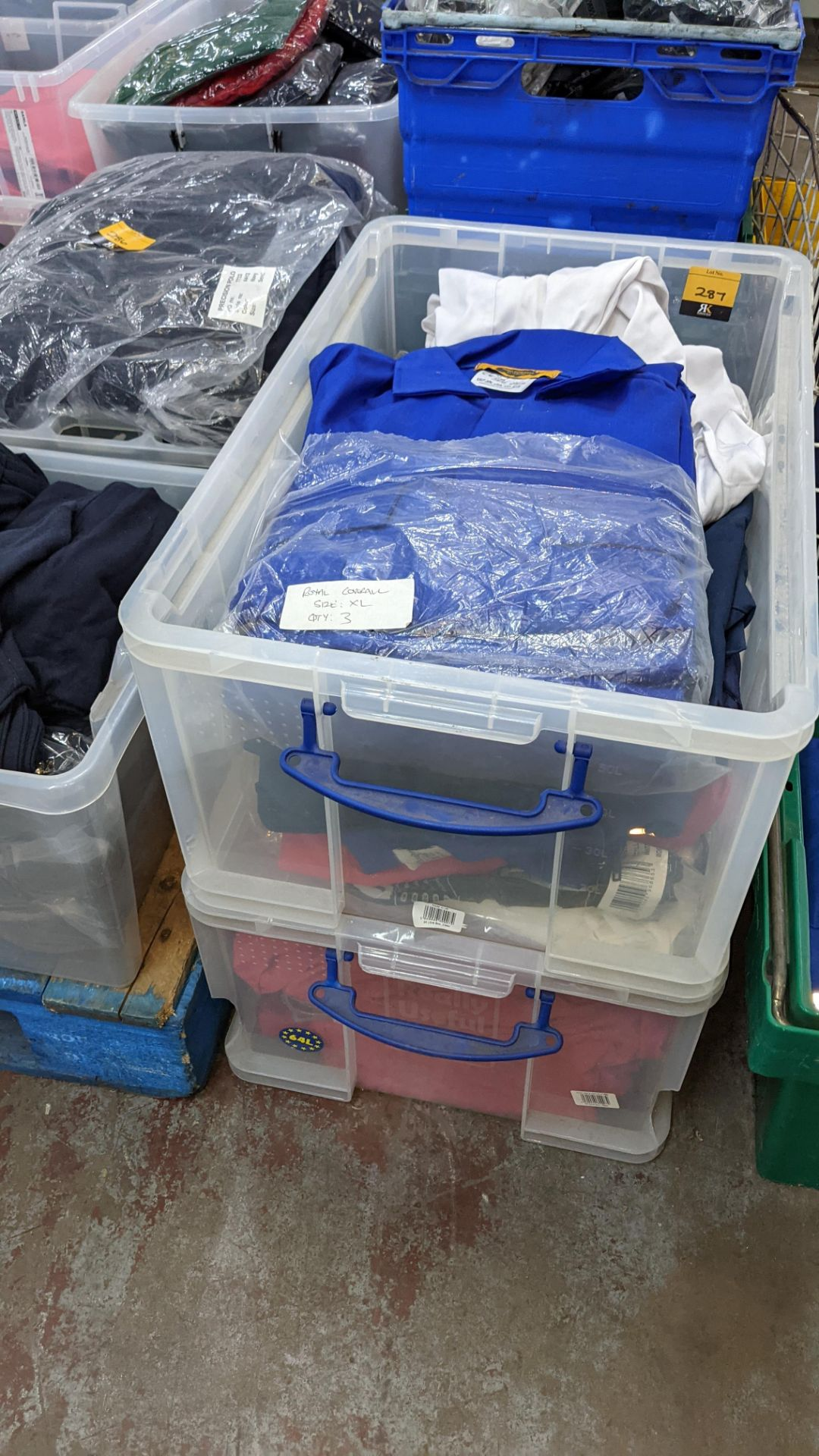 The contents of 2 crates of assorted boiler suits & similar. NB crates excluded - Image 2 of 5