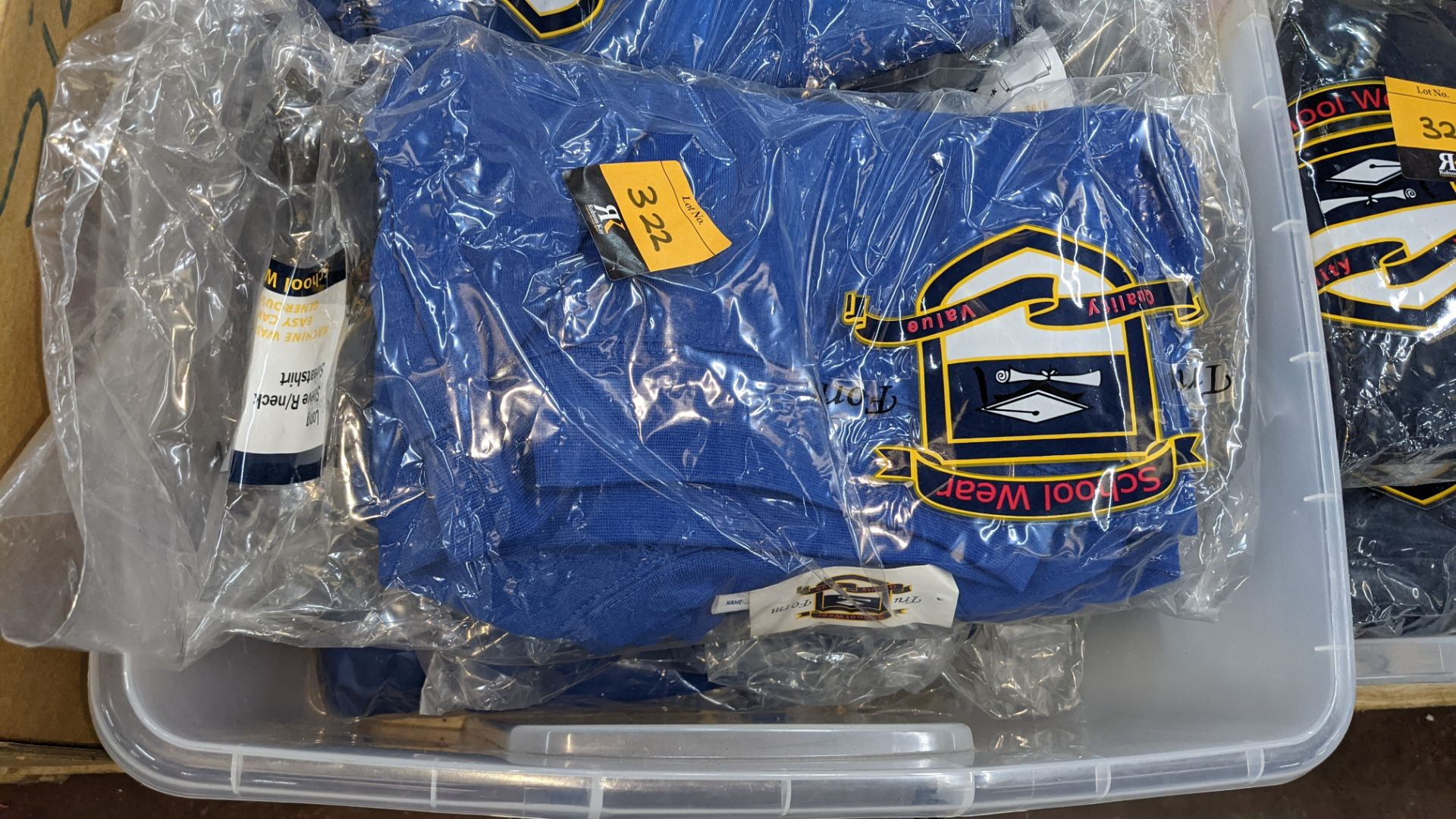 Approx 27 off blue children's sweatshirts & similar - the contents of 1 crate. NB crate excluded - Image 3 of 4