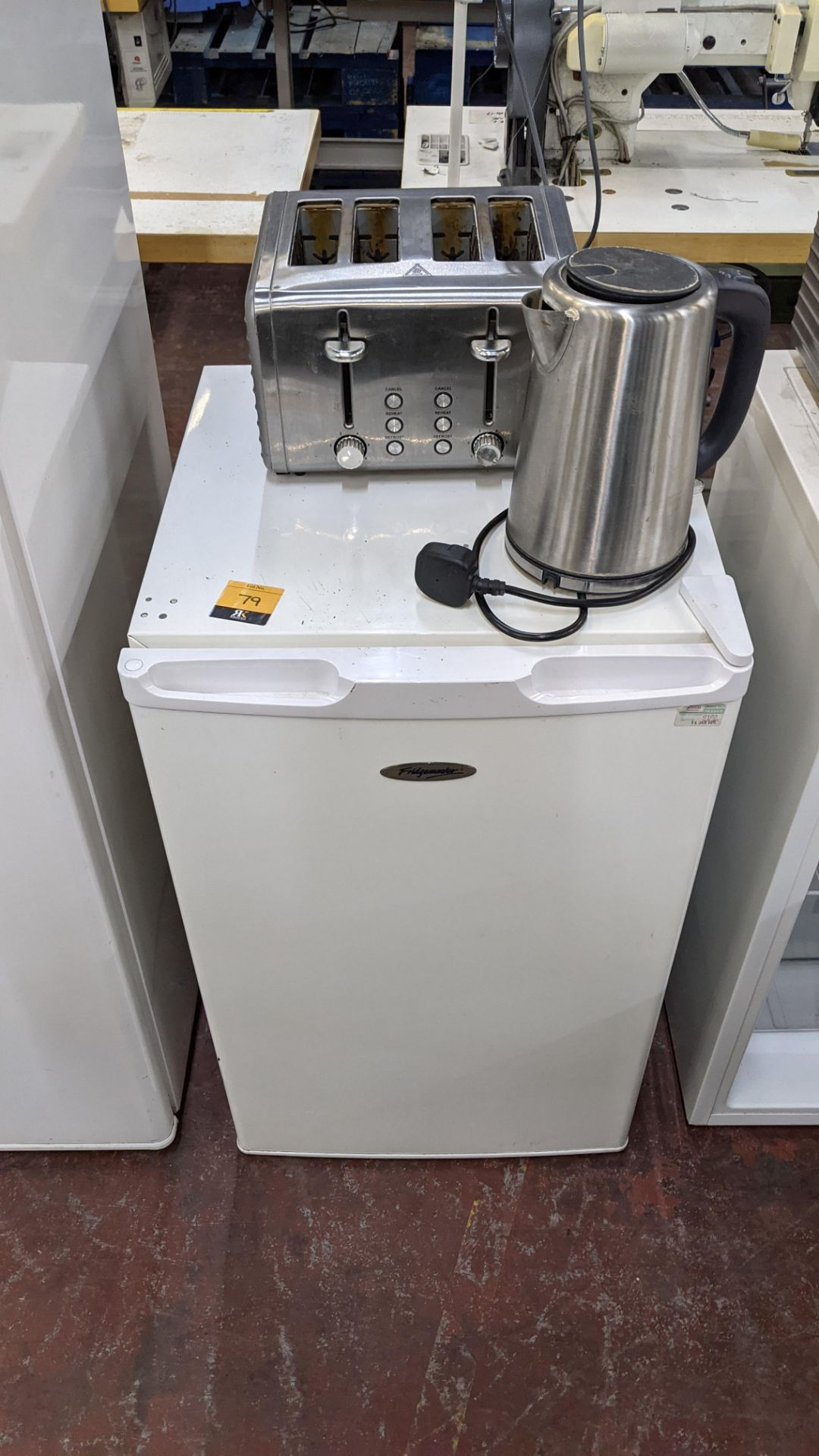 Domestic appliance lot comprising counter height fridge (incorporating freezer section) plus cordles
