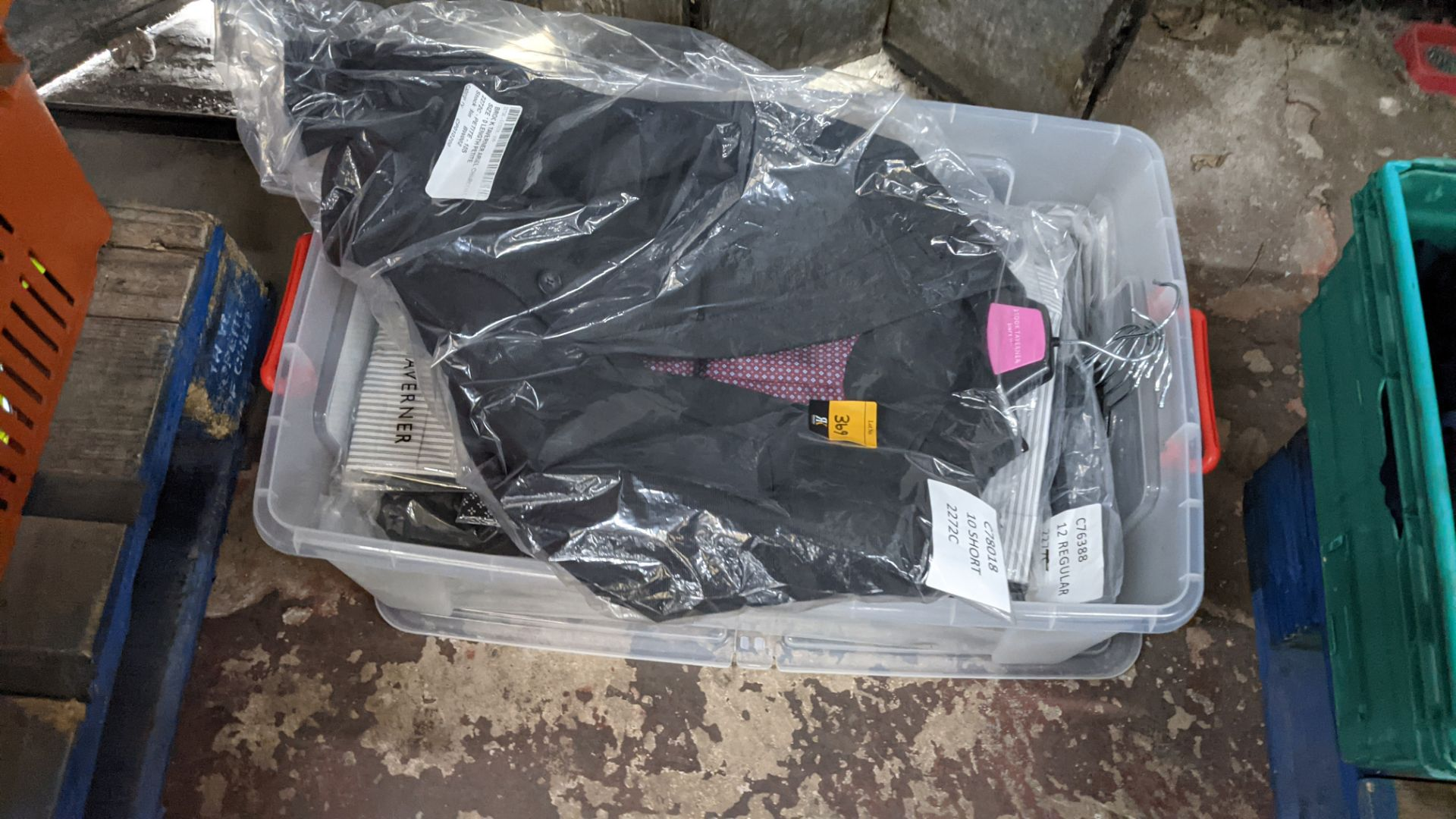 Quantity of assorted garments comprising the contents of a crate. NB crate excluded - Image 2 of 7