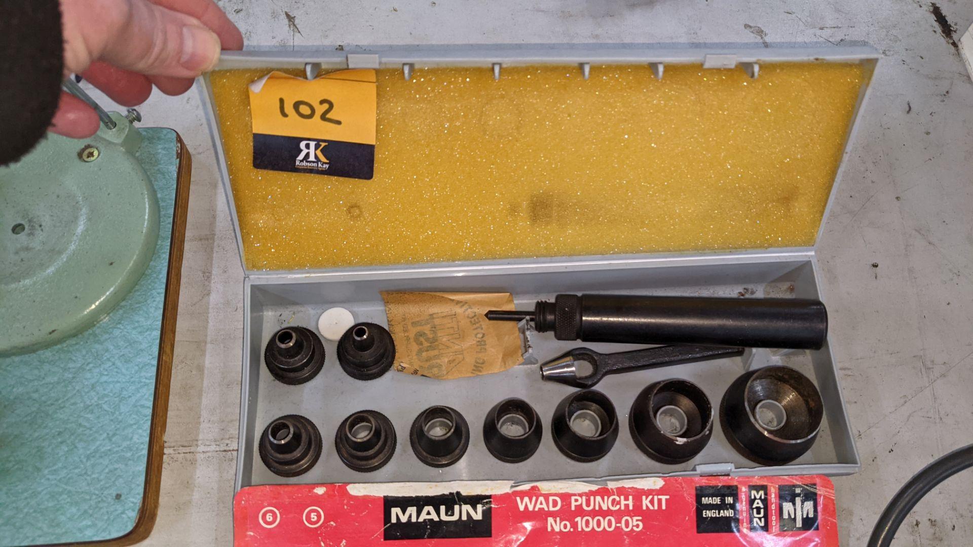 Maun wad punch kit number 1000-05