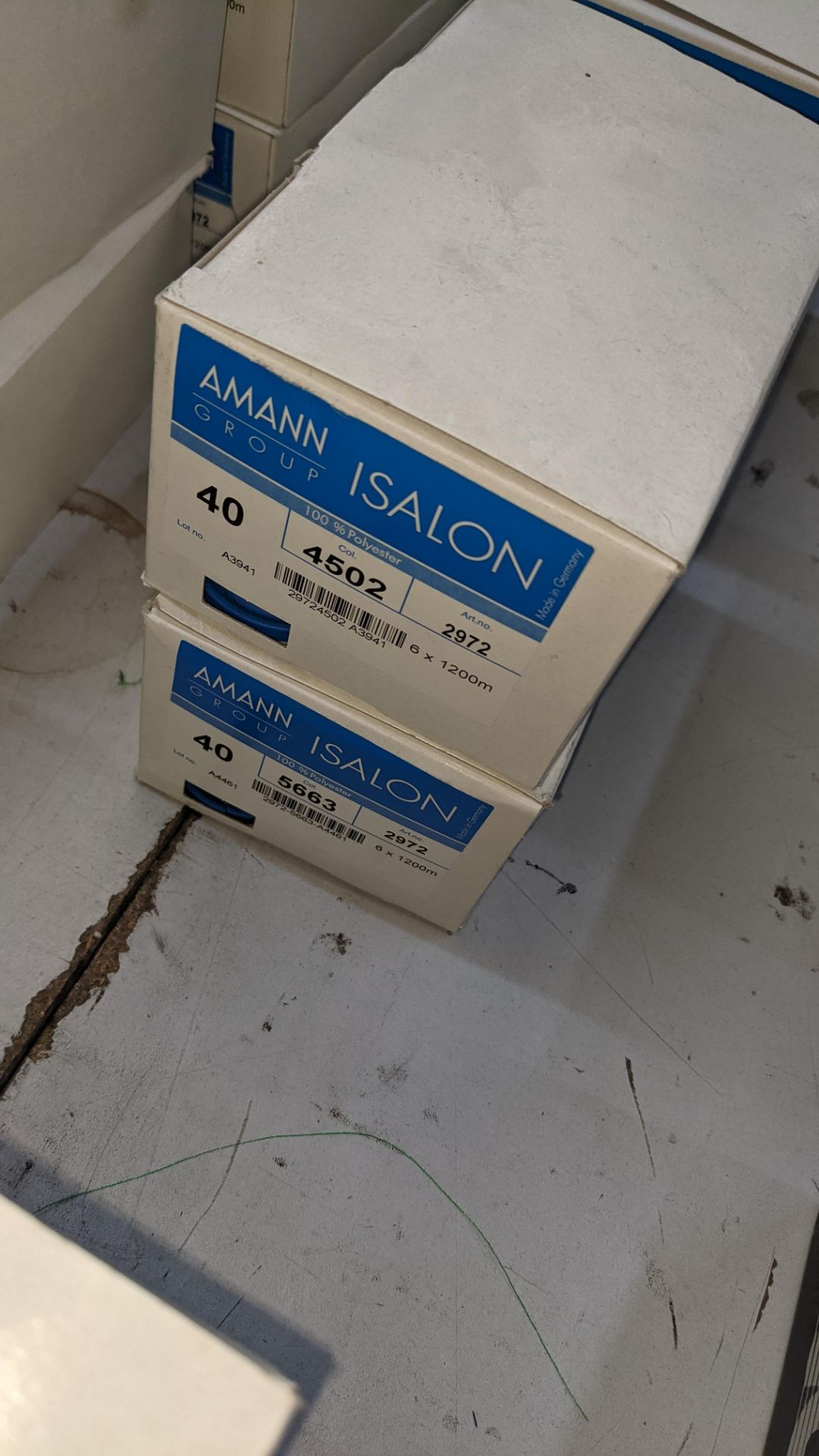 12 boxes of Amann Group ISALON 40 polyester embroidery thread - Image 4 of 9