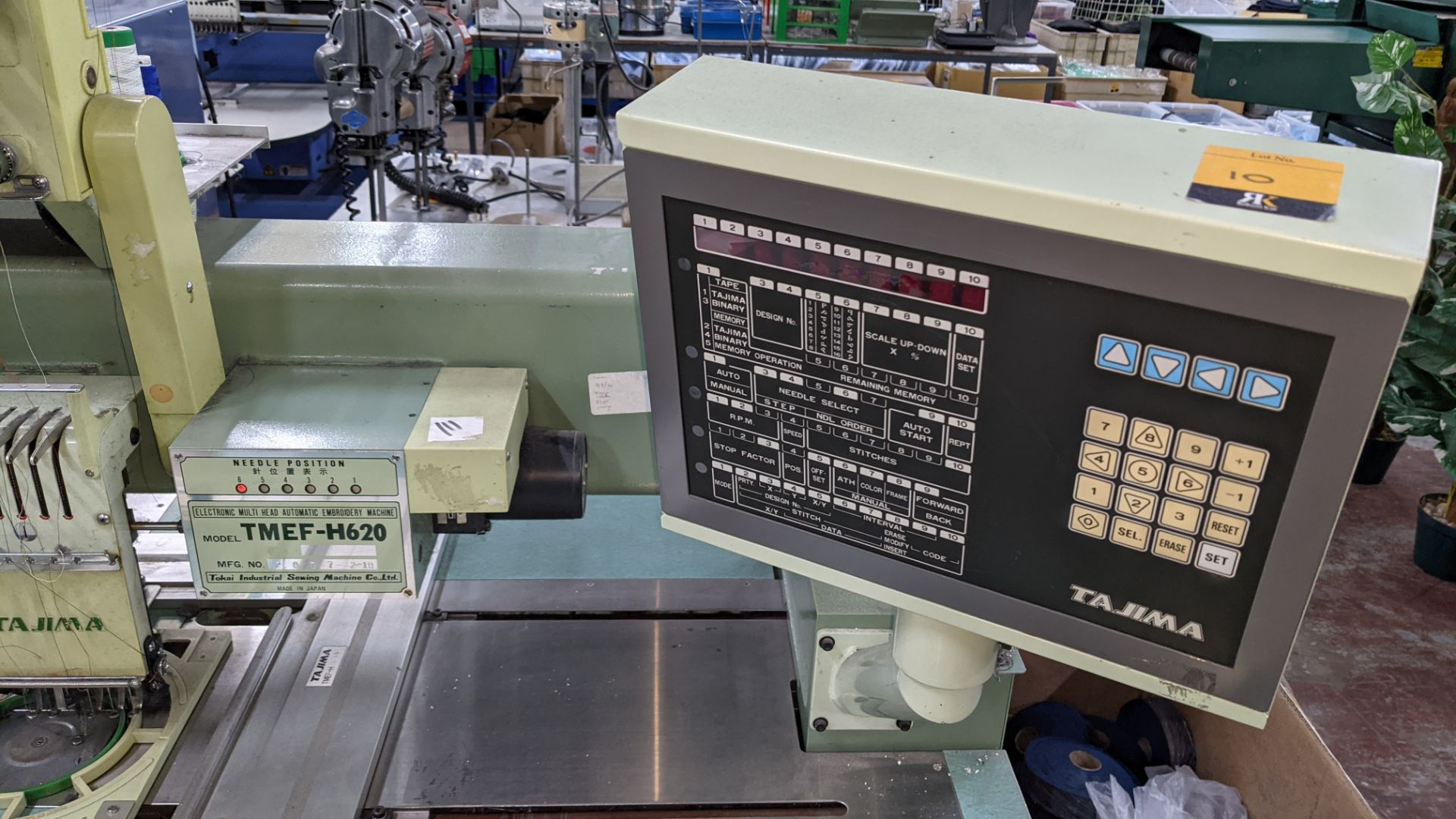 Tokai Tajima electronic 20 head automatic embroidery machine model TMEF-H620 - Image 5 of 25