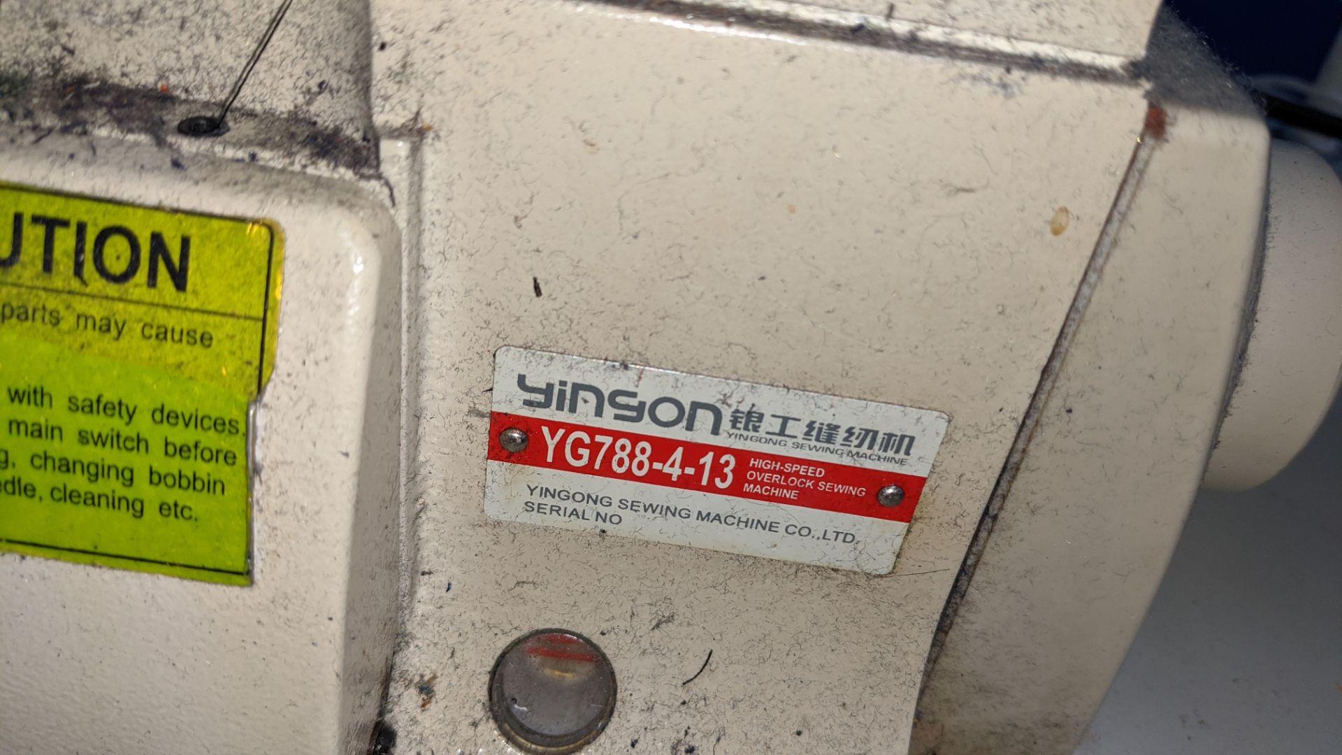 Yingon 788 series overlocker model YG788-4-13 - Image 8 of 16