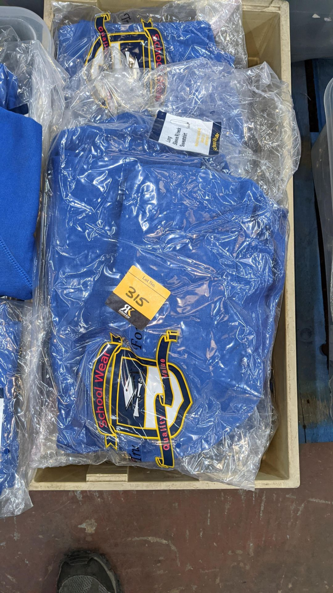 Approx 17 off blue children's sweatshirts & similar - the contents of 1 crate. NB crate excluded - Image 3 of 6