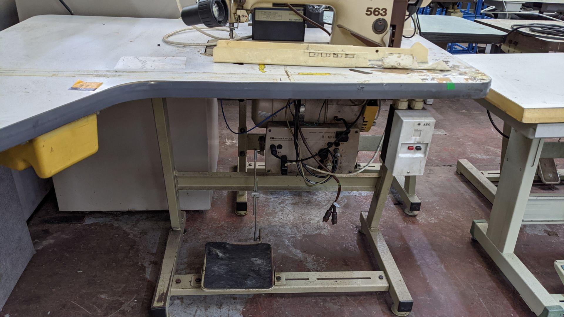 Pfaff model 563 sewing machine with Efka modular V720 digital controller - Image 11 of 13