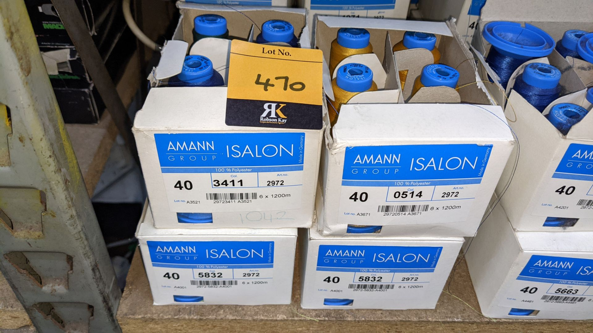 12 boxes of Amann Group ISALON embroidery thread - Image 3 of 6