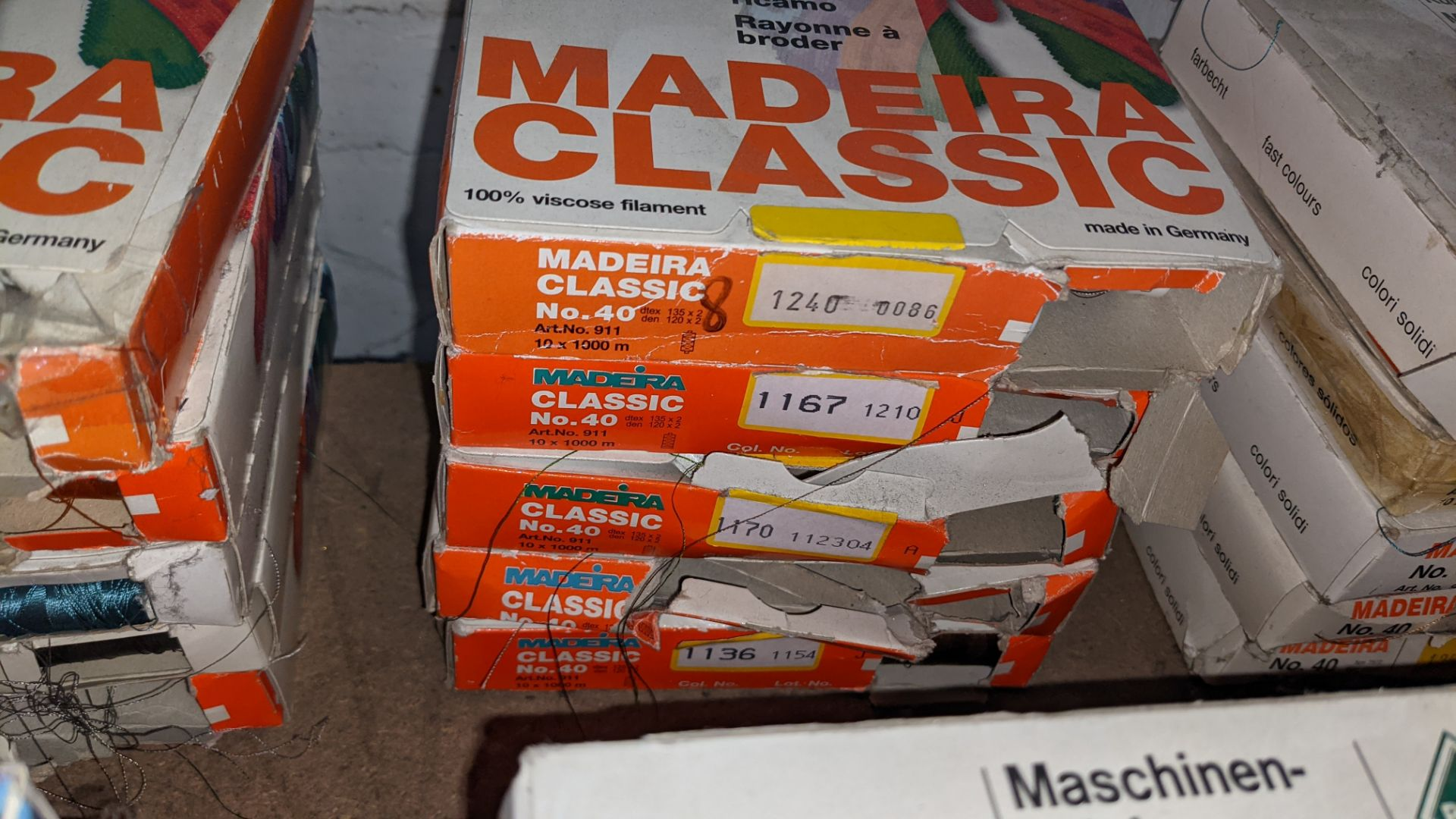 15 assorted boxes of Madeira Classic No. 40 embroidery rayon thread - Image 5 of 8