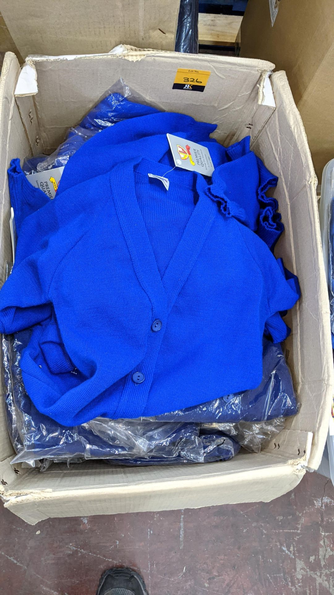 Approx 26 off blue button up children's tops - the contents of 1 large box - Image 2 of 3