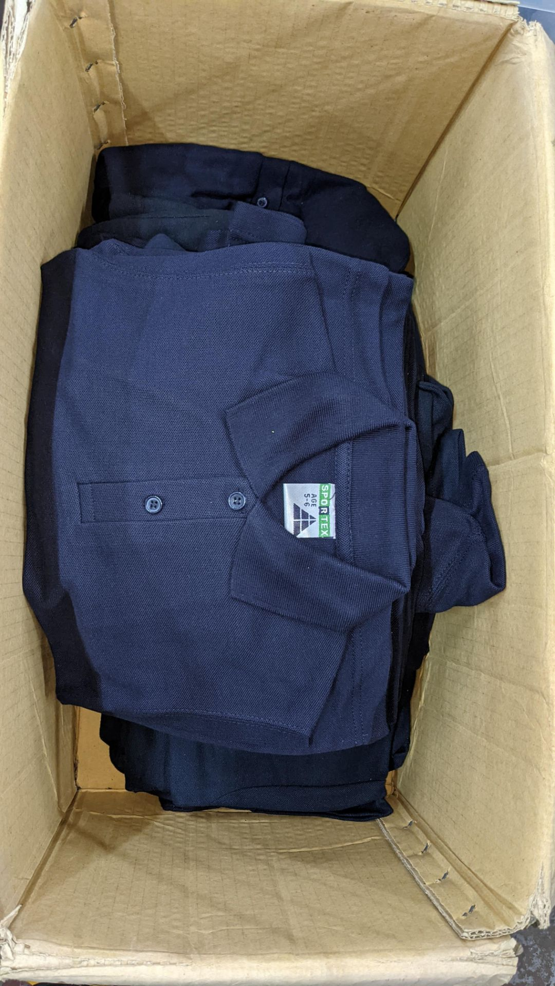 Approx 40 off children's assorted polo shirts - the contents of 2 boxes/crates. NB boxes/crates exc - Image 3 of 6