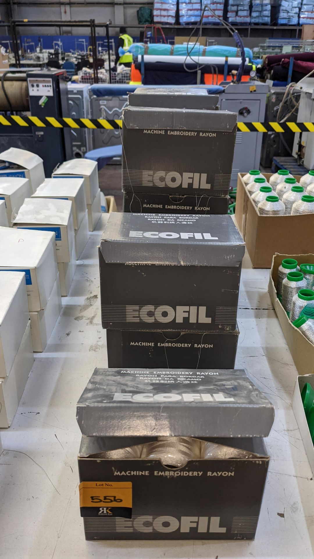 12 boxes of Ecofil rayon machine embroidery thread, all in white - Image 2 of 8