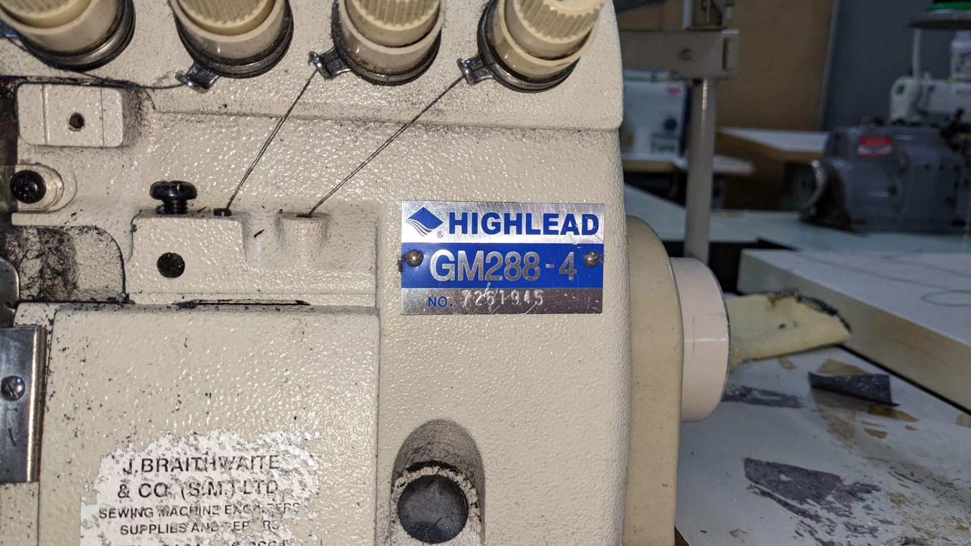 Highlead overlocker model GM288-4 - Image 8 of 16