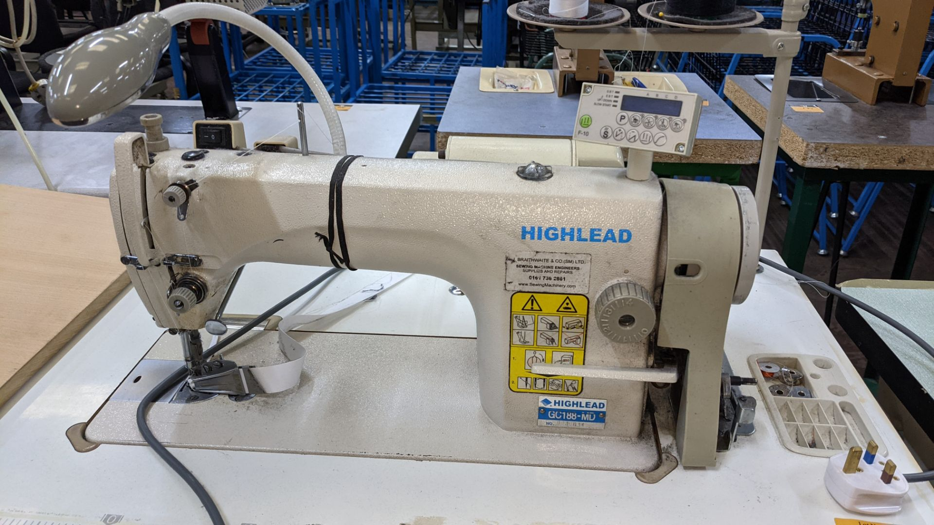 Highlead model GC188-MD sewing machine with edge band guide - Image 6 of 17