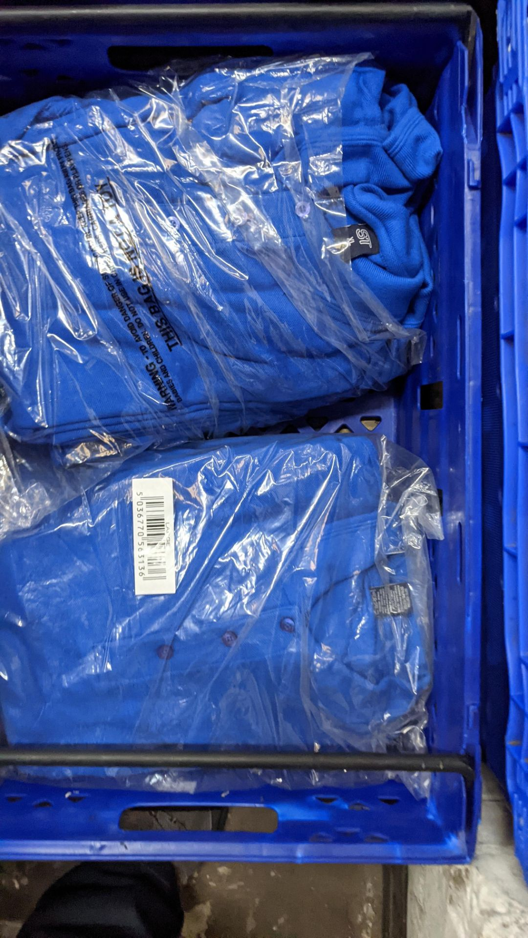 Approx 30 off royal blue polo shirts (2 crates) - Image 6 of 6