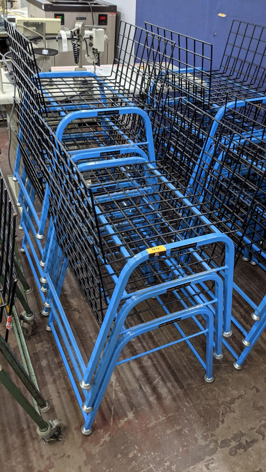 7 off matching blue stacking Steely mobile machinists baskets - Image 3 of 5
