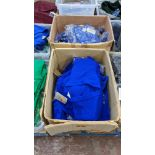 2 boxes of blue children's cardigans & jumpers