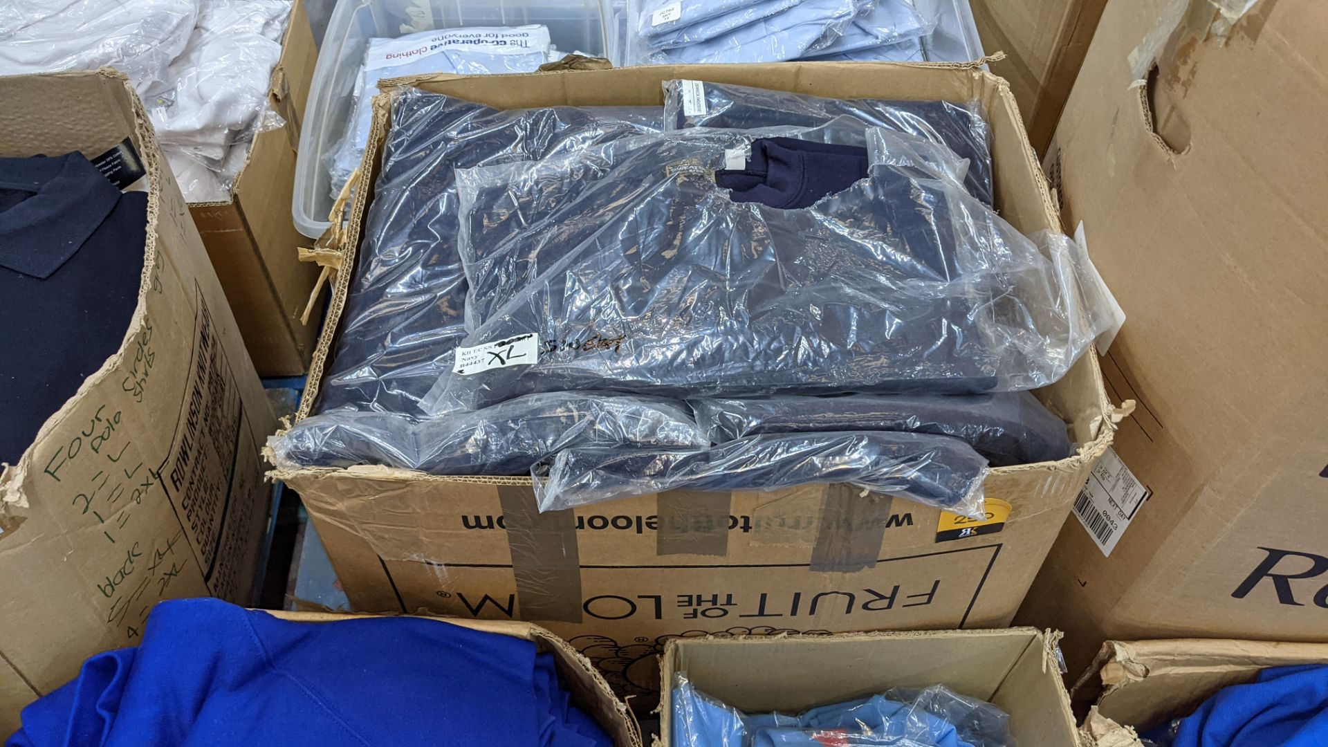 Approx 27 off blue sweatshirts - 1 large box - Image 2 of 5
