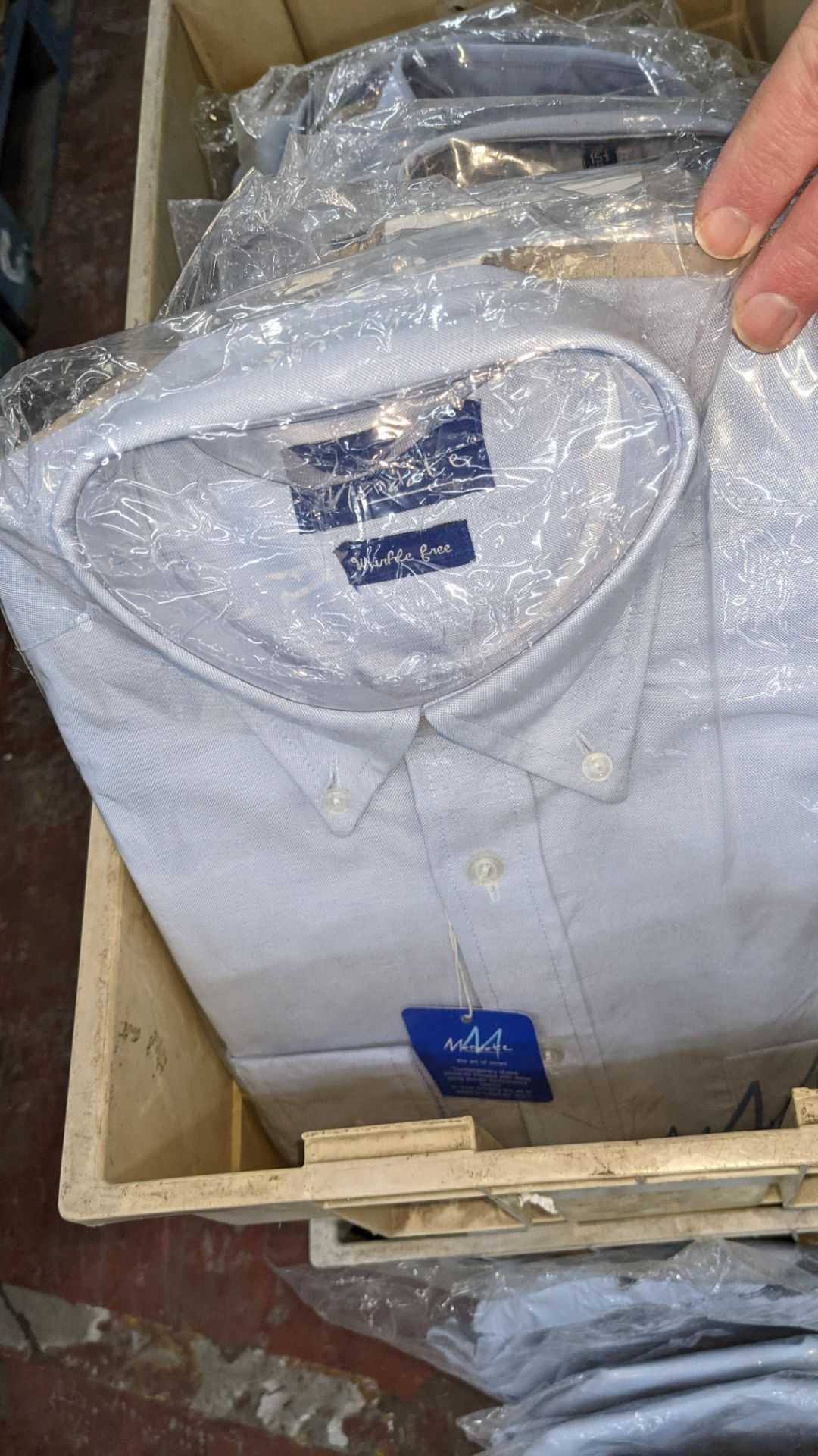 Approx 70 off assorted pale blue & white shirts & other button up tops in assorted styles - the cont - Image 6 of 7