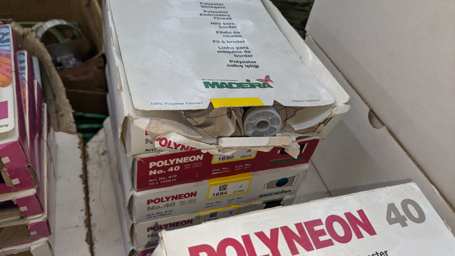 19 boxes of Madeira Polyneon machine embroidery thread - Image 6 of 10
