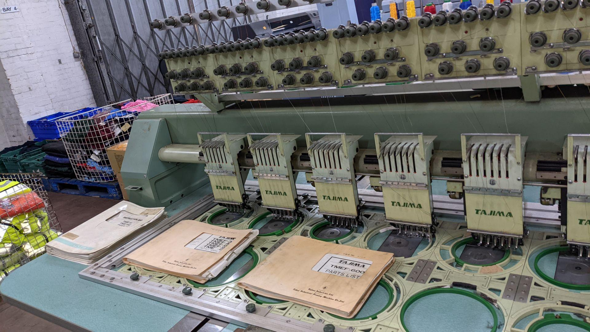 Tokai Tajima electronic 20 head automatic embroidery machine model TMEF-H620 - Image 11 of 25