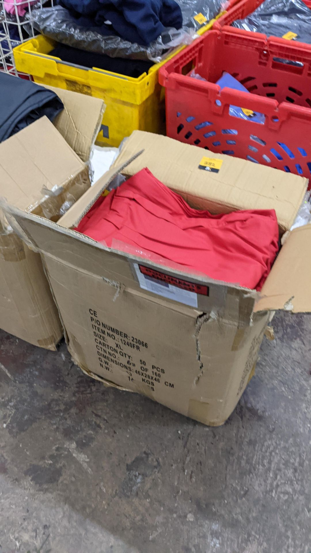 Approx 34 pairs of red trousers
