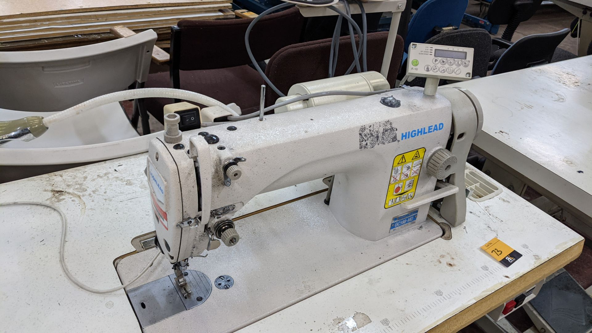 Highlead model GC188-MD sewing machine with model F-10 digital controller - Image 8 of 16
