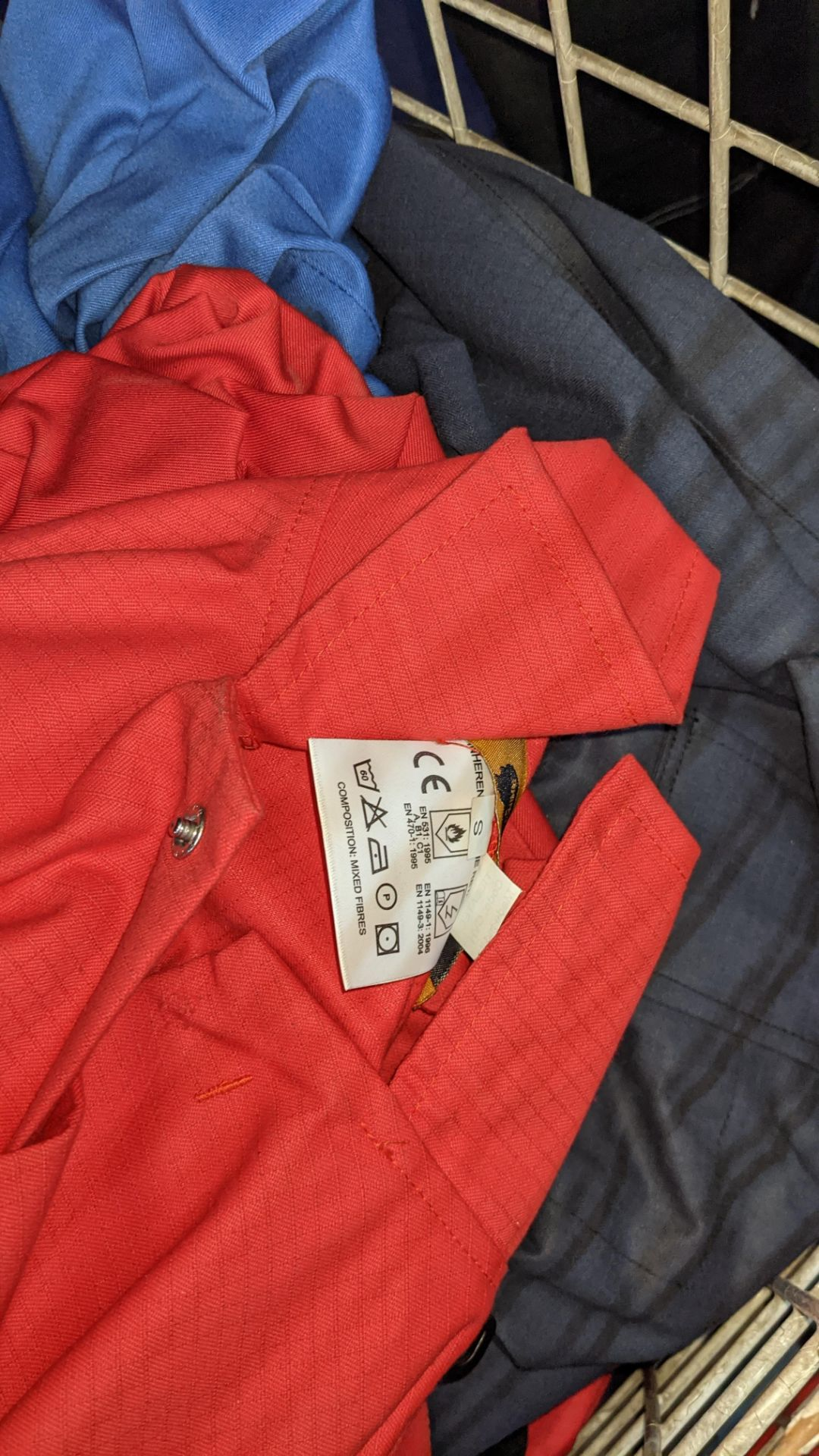 The contents of a cage of assorted work clothing. NB cage excluded - Image 6 of 8