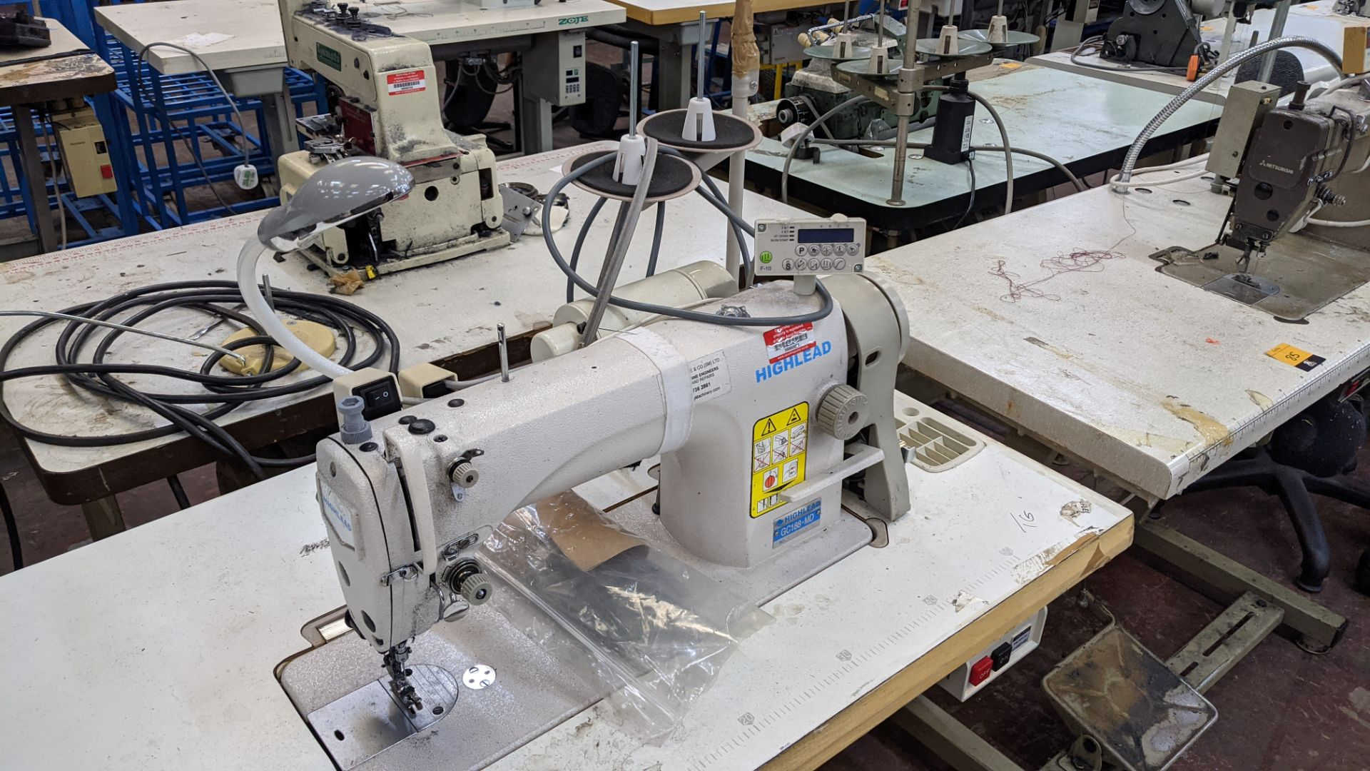 Highlead model GC188-MD sewing machine with model F-10 digital controller - Image 6 of 15