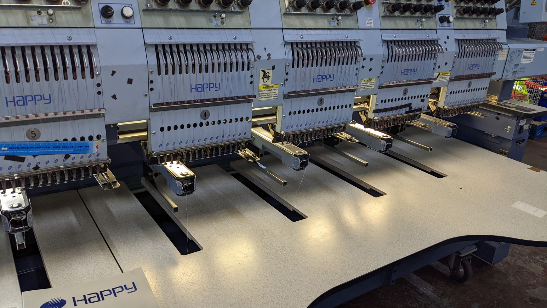 Happy 8 head embroidery machine, model HCG-1508-45TTC, 15 needles per head, including frames & other - Image 15 of 27