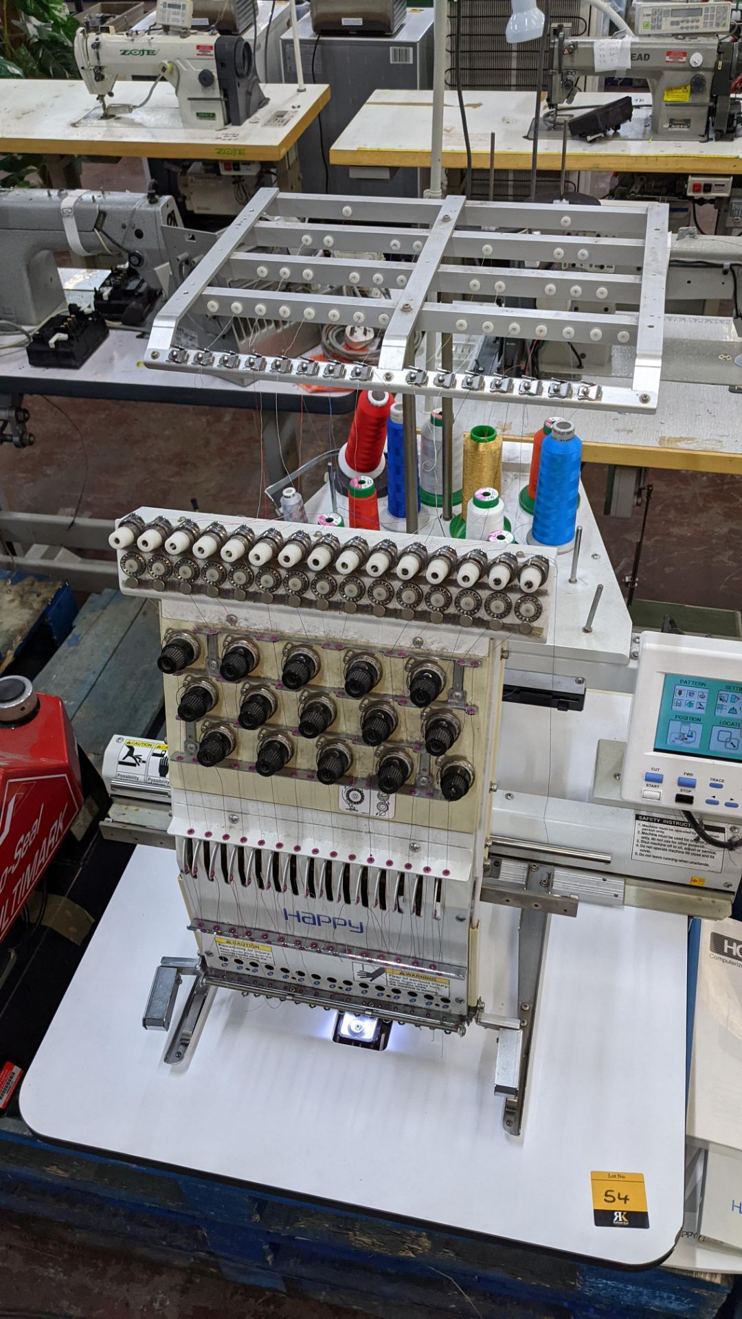 Happy single head embroidery machine model HCD-1501-40 - Image 12 of 22