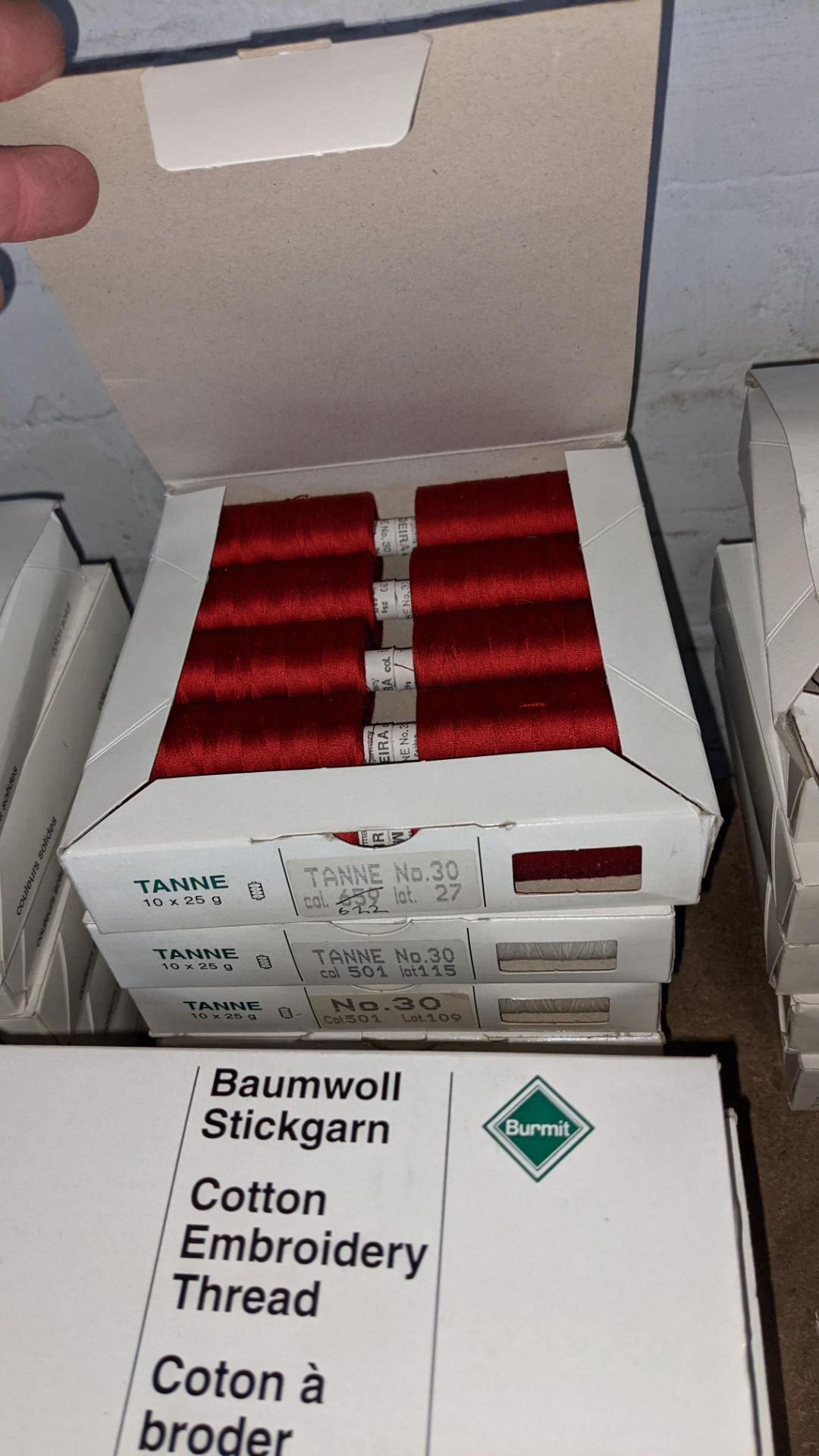 18 boxes of Madeira Tanne (Burmit) cotton embroidery thread - Image 8 of 8